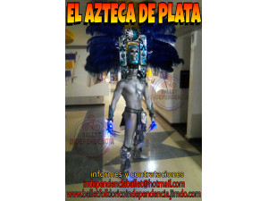 DIOS AZTECA DE PLATA EN TU FIESTA