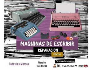 Reparacion de maquinas de escribir CDMX