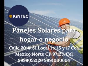 Paneles Solares para casa o negocio