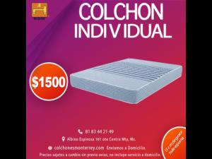 Colchón individual $1500 en Monterrey