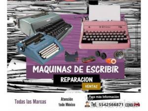 Reparacion de maquinas de escribir CDMX y zona metropol...