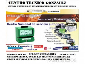 Reparacion de relojes checadores CDMX y zona metropolit...
