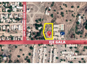 Terreno de 2525 m2 sl Sur Blvd Eje Gala en Hermosillo