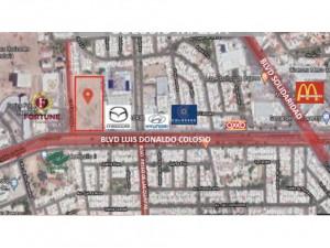 Terreno comercial de 16000 m2 Blvd Colosio en Hermosill...