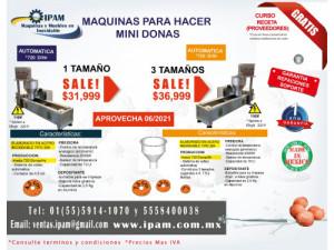 MAQUINA DE MINI DONAS AUTOMÁTICA DE TRES TAMAÑOS