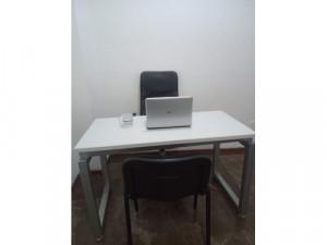 Amplia oficina amueblada para 2 personas con todo inclu...