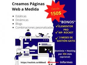 Creamos páginas web profesionales