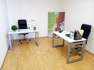 Oficina para dos personas amueblada