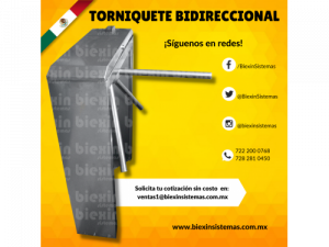 TORNIQUETE BIDIRECCIONAL DE CONTROL AL ACCESO