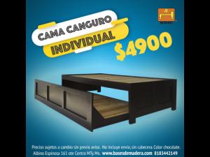 Cama canguro individual color chocolate $4900