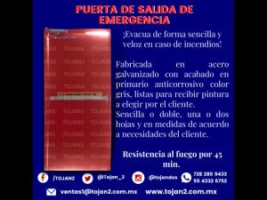 PUERTA DE SALIDA DE EMERGENCIA CON ACCESORIOS