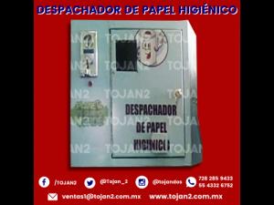 DESPACHADOR DE PAPEL HIGIENICO Y COBRO AL ACCESO