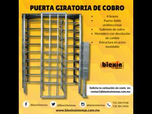PUERTA GIRATORIA CON COBRO Y DEVOLUCION DE CAMBIO