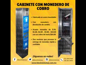 GABINETE DE COBRO EN ACERO INOXIDABLE