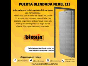 PUERTA BLINDADA NIVEL  DE BLINDAJE III